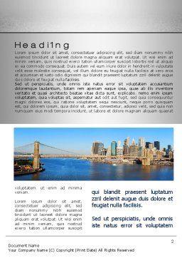 Brooklyn Bridge Word Template, First Inner Page, 10267, Construction — PoweredTemplate.com