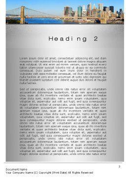 Brooklyn Bridge Word Template, Second Inner Page, 10267, Construction — PoweredTemplate.com