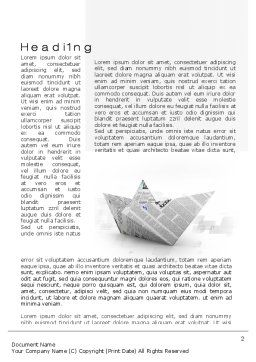 Paper Boat Word Template, First Inner Page, 10268, Business Concepts — PoweredTemplate.com