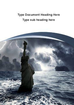 Catastrophe Word Template, Cover Page, 10271, Nature & Environment — PoweredTemplate.com