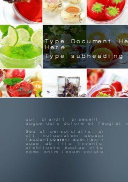 Fruit Desserts Word Template, Cover Page, 10272, Food & Beverage — PoweredTemplate.com