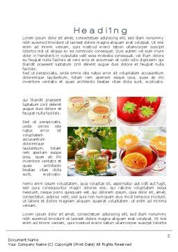 Fruit Desserts Word Template, First Inner Page, 10272, Food & Beverage — PoweredTemplate.com