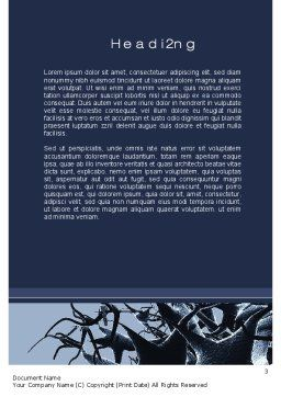 Neurons Cluster Word Template, Second Inner Page, 10273, Medical — PoweredTemplate.com