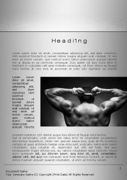 Fighter Word Template, First Inner Page, 10274, Sports — PoweredTemplate.com