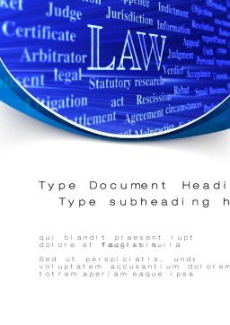 Law Word Template, Cover Page, 10278, Legal — PoweredTemplate.com
