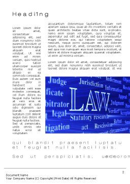 Law Word Template, First Inner Page, 10278, Legal — PoweredTemplate.com