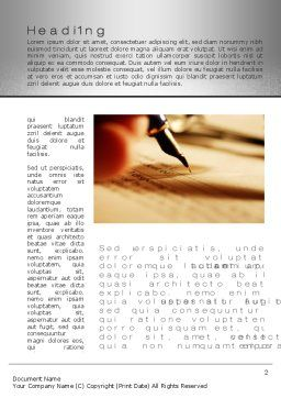 Pen Signing Word Template, First Inner Page, 10280, Business Concepts — PoweredTemplate.com
