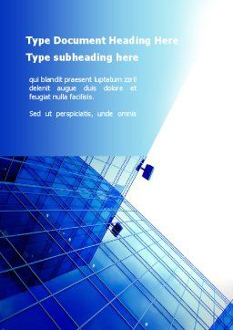 Glass Architecture Word Template, Cover Page, 10286, Construction — PoweredTemplate.com