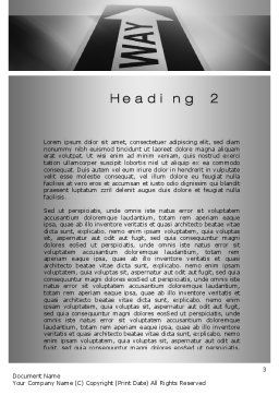 One Way Arrow Word Template, Second Inner Page, 10287, Business Concepts — PoweredTemplate.com