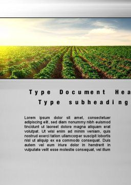 Agriculture Word Template, Cover Page, 10291, Agriculture and Animals — PoweredTemplate.com