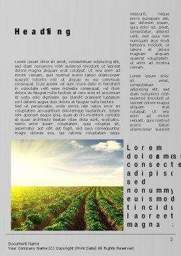 Agriculture Word Template, First Inner Page, 10291, Agriculture and Animals — PoweredTemplate.com
