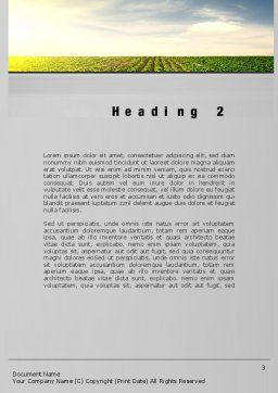 Agriculture Word Template, Second Inner Page, 10291, Agriculture and Animals — PoweredTemplate.com