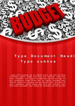 Government Budget Word Template, Cover Page, 10293, Financial/Accounting — PoweredTemplate.com