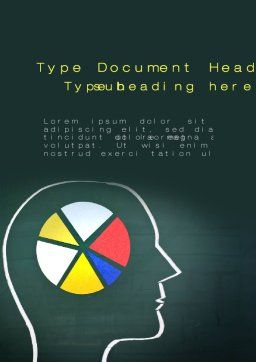 Mind Share Word Template, Cover Page, 10296, Medical — PoweredTemplate.com
