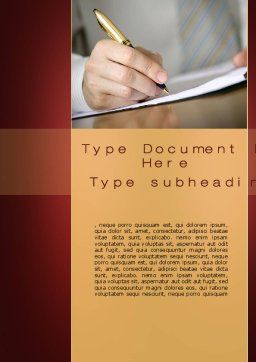 Synopsis Word Template, Cover Page, 10297, Business Concepts — PoweredTemplate.com