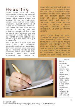 Synopsis Word Template, First Inner Page, 10297, Business Concepts — PoweredTemplate.com