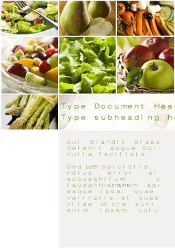Vegetarian Word Template, Cover Page, 10298, Food & Beverage — PoweredTemplate.com