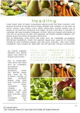 Vegetarian Word Template, First Inner Page, 10298, Food & Beverage — PoweredTemplate.com