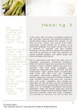 Vegetarian Word Template, Second Inner Page, 10298, Food & Beverage — PoweredTemplate.com