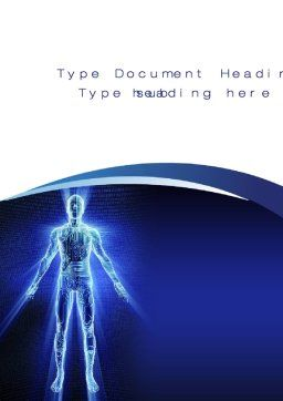 Cybernetical Word Template, Cover Page, 10299, Technology, Science & Computers — PoweredTemplate.com