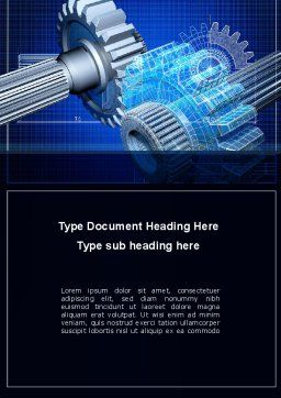 Prototype of Mechanism Word Template, Cover Page, 10301, Utilities/Industrial — PoweredTemplate.com