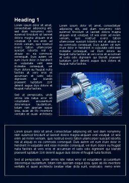 Prototype of Mechanism Word Template, First Inner Page, 10301, Utilities/Industrial — PoweredTemplate.com