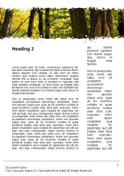 Mutual Understanding Word Template, Second Inner Page, 10302, People — PoweredTemplate.com
