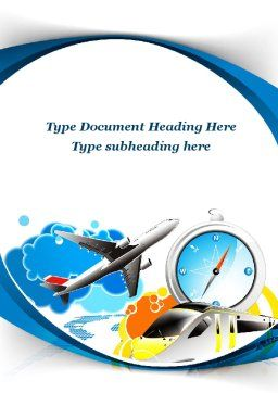Travelling Mode Word Template, Cover Page, 10303, Cars/Transportation — PoweredTemplate.com