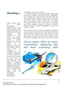Travelling Mode Word Template, First Inner Page, 10303, Cars/Transportation — PoweredTemplate.com