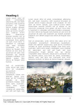 Tsunami Word Template, First Inner Page, 10304, Nature & Environment — PoweredTemplate.com