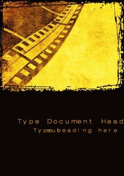 Film Sepia Word Template, Cover Page, 10305, Art & Entertainment — PoweredTemplate.com