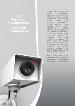 Surveillance Word Template, Cover Page, 10307, Careers/Industry — PoweredTemplate.com