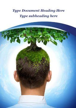 Think Green Word Template, Cover Page, 10309, Nature & Environment — PoweredTemplate.com