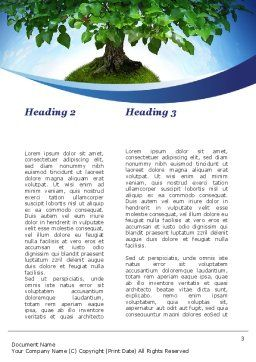 Think Green Word Template, Second Inner Page, 10309, Nature & Environment — PoweredTemplate.com