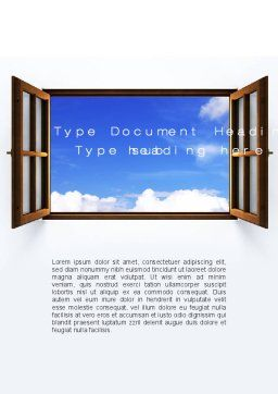 Open Window Word Template, Cover Page, 10314, Business Concepts — PoweredTemplate.com