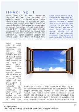 Open Window Word Template, First Inner Page, 10314, Business Concepts — PoweredTemplate.com