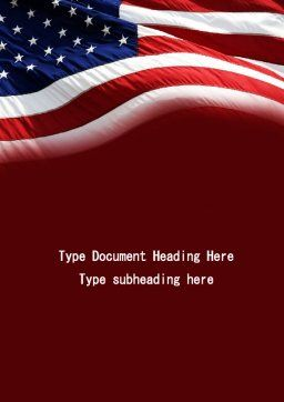 Old Glory Word Template, Cover Page, 10315, Flags/International — PoweredTemplate.com