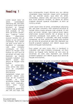 Old Glory Word Template, First Inner Page, 10315, Flags/International — PoweredTemplate.com