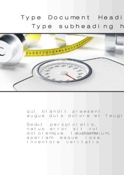 Weight Control Word Template Cover Page