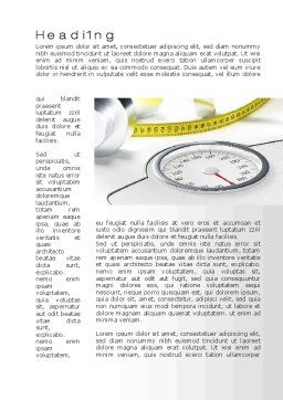 Weight Control Word Template, First Inner Page, 10317, Medical — PoweredTemplate.com