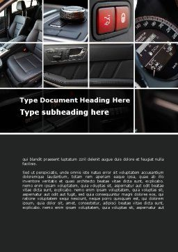 Car Interior Design Word Template, Cover Page, 10319, Careers/Industry — PoweredTemplate.com