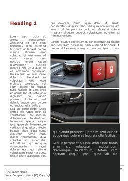 Car Interior Design Word Template, First Inner Page, 10319, Careers/Industry — PoweredTemplate.com