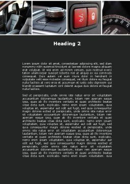 Car Interior Design Word Template, Second Inner Page, 10319, Careers/Industry — PoweredTemplate.com