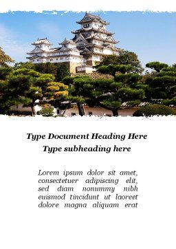 Himeji Castle Word Template, Cover Page, 10321, Construction — PoweredTemplate.com
