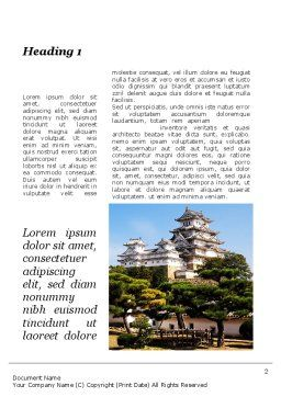 Himeji Castle Word Template, First Inner Page, 10321, Construction — PoweredTemplate.com