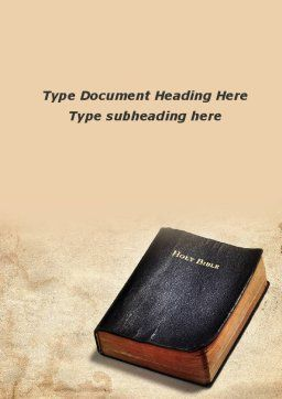 Worn Bible Word Template Cover Page