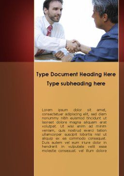 Negotiating Word Template, Cover Page, 10326, Business Concepts — PoweredTemplate.com