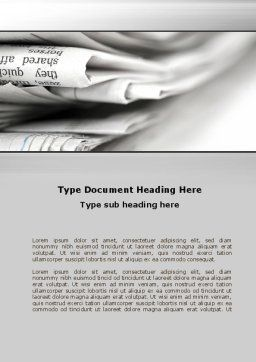 Newspapers Word Template Cover Page