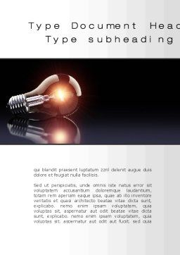 Bulb Word Template, Cover Page, 10331, Business Concepts — PoweredTemplate.com