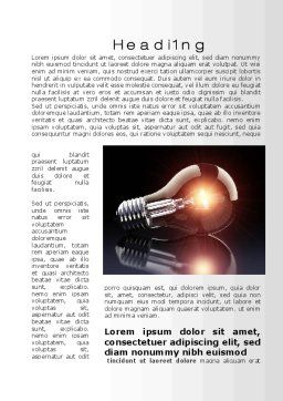 Bulb Word Template, First Inner Page, 10331, Business Concepts — PoweredTemplate.com